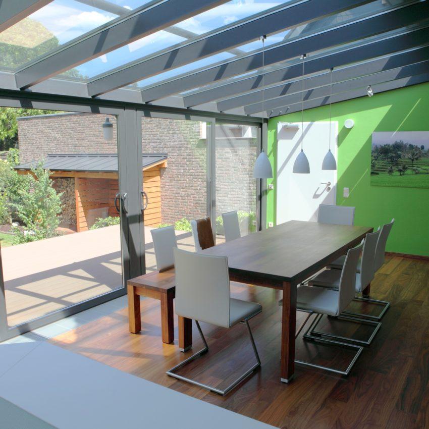 Okna aluminiowe ogród zimowy